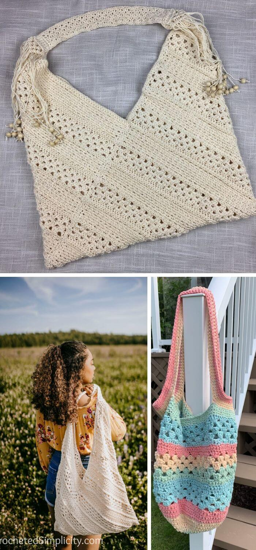 The tote crochet handbag free pattern