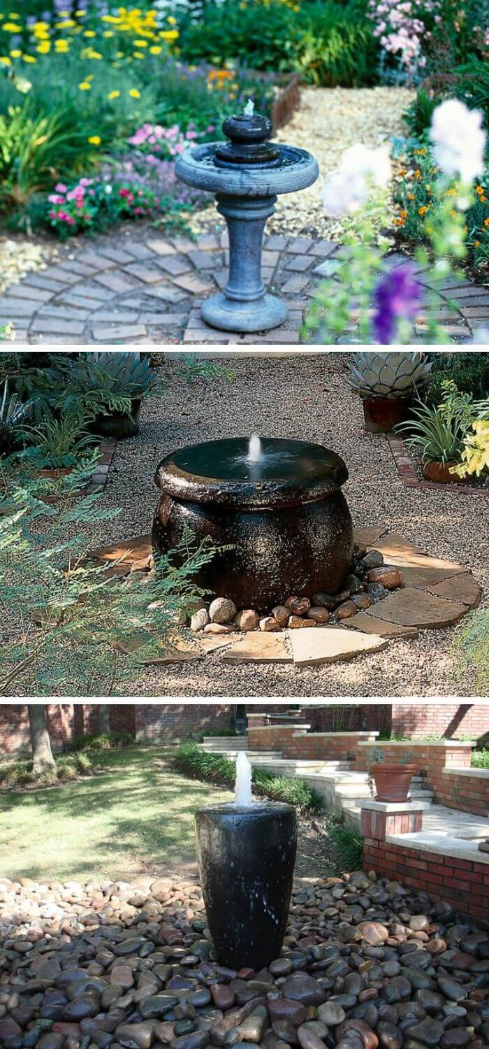 Small Fountains Bring Big Character