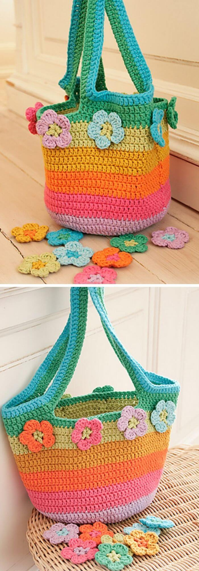 The crochet drops bag