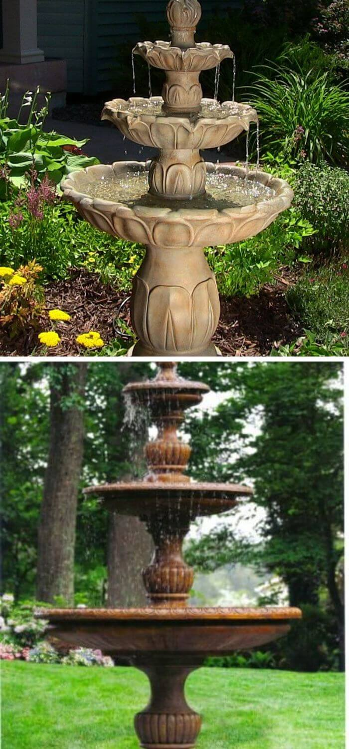 Traditional Tiered Spill Fountain