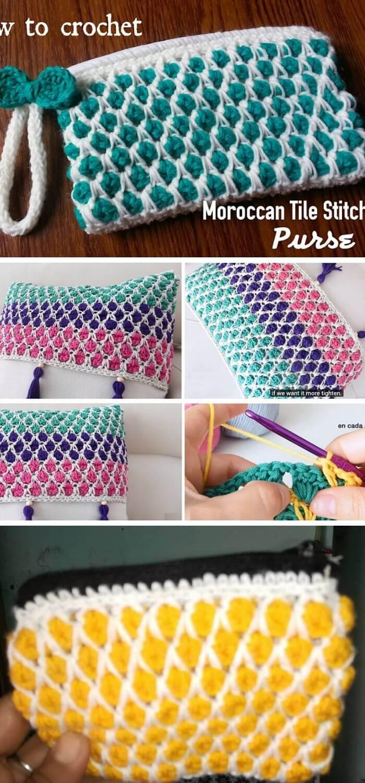 The Moroccan tile stitch purse