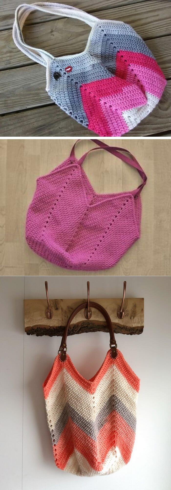 Solid granny square bottom bag