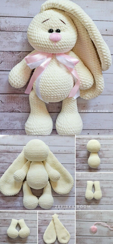 Free Crochet Bunny Amigurumi Pattern | Supergurumi | 1500x700