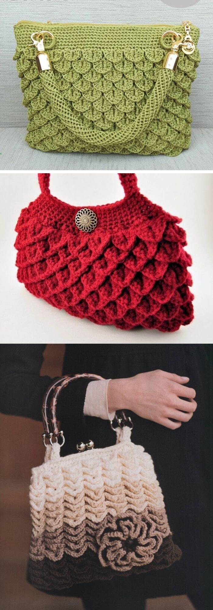 The clutch stitch bag