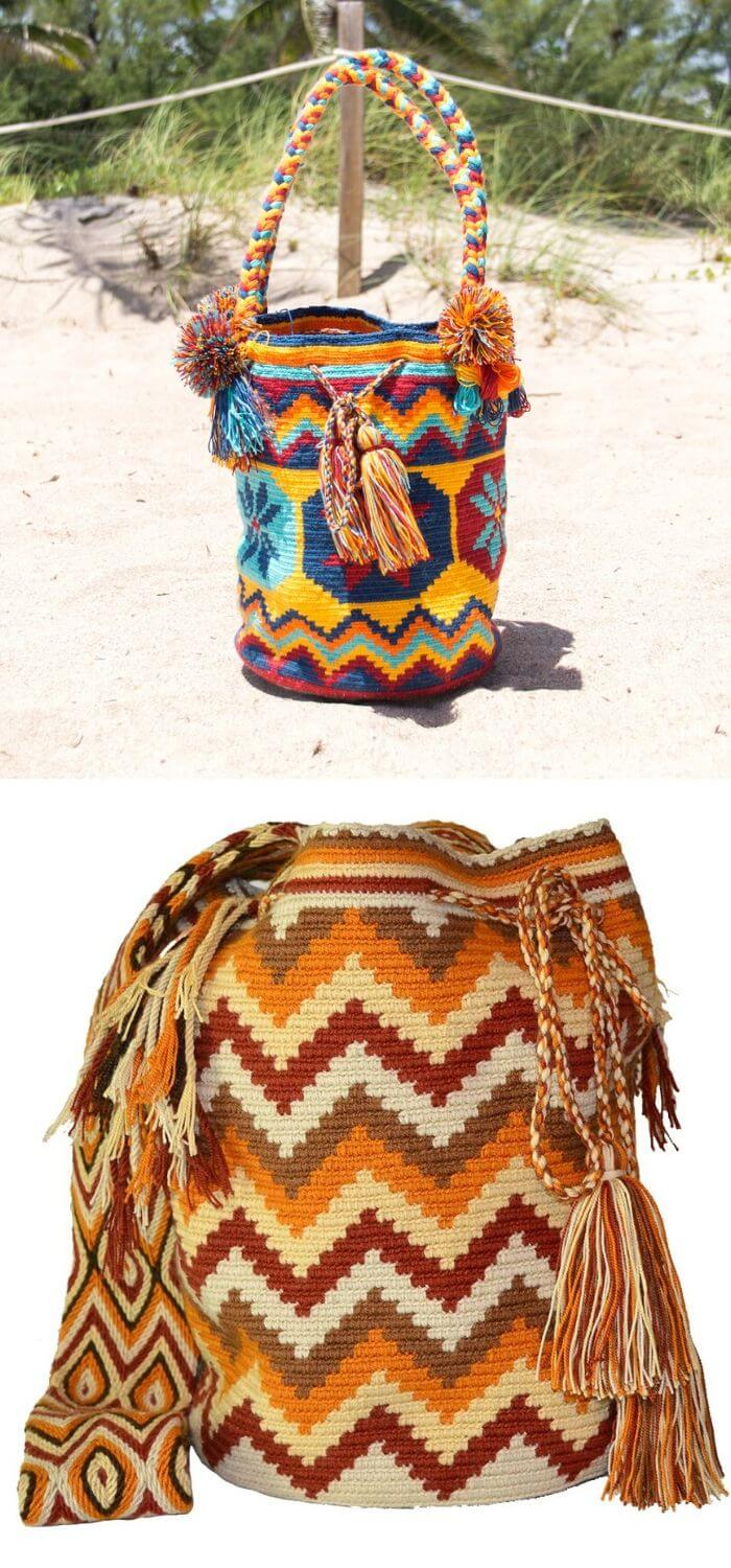 Let us take a look at wayuu authentic mochila bag