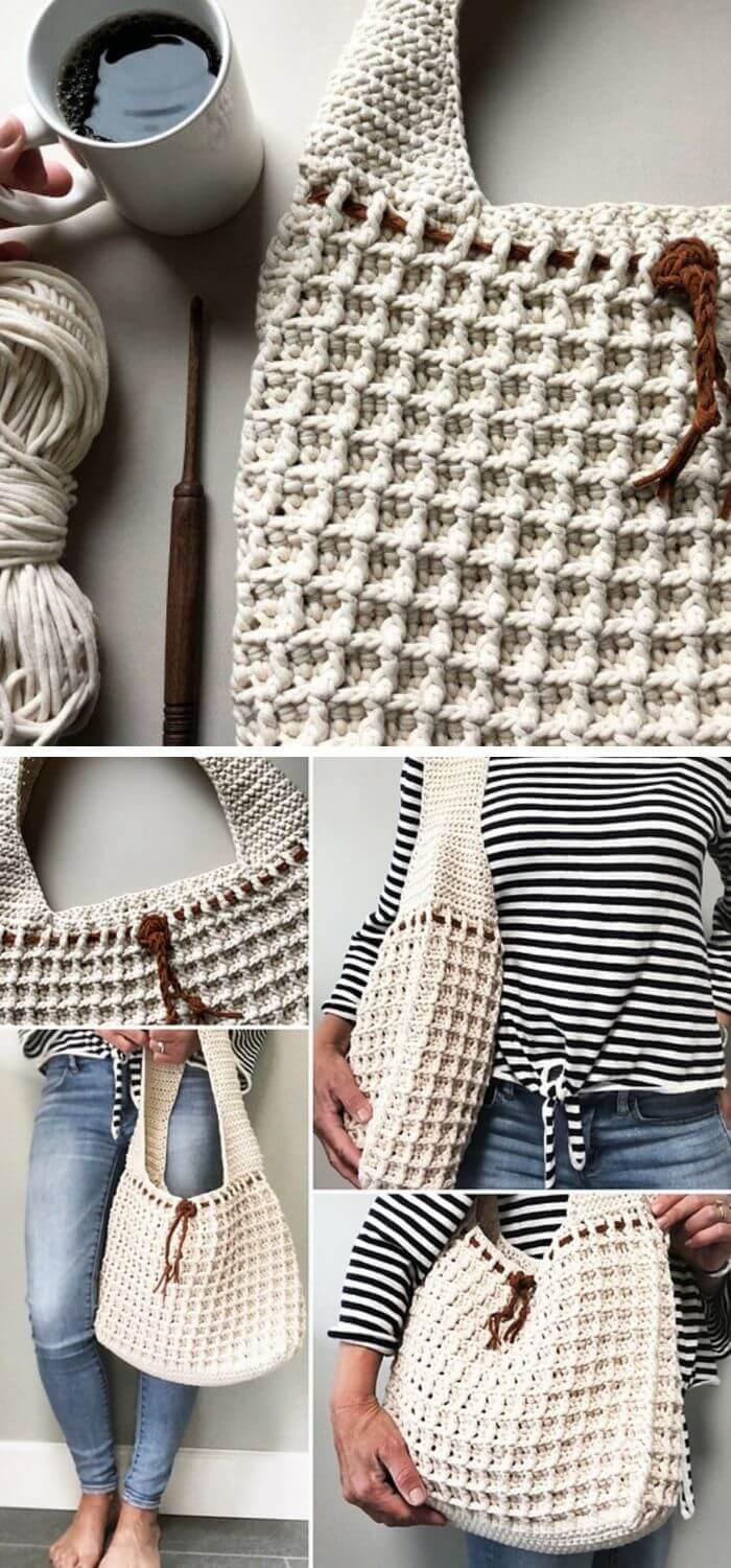 Let us see the waffle stitch