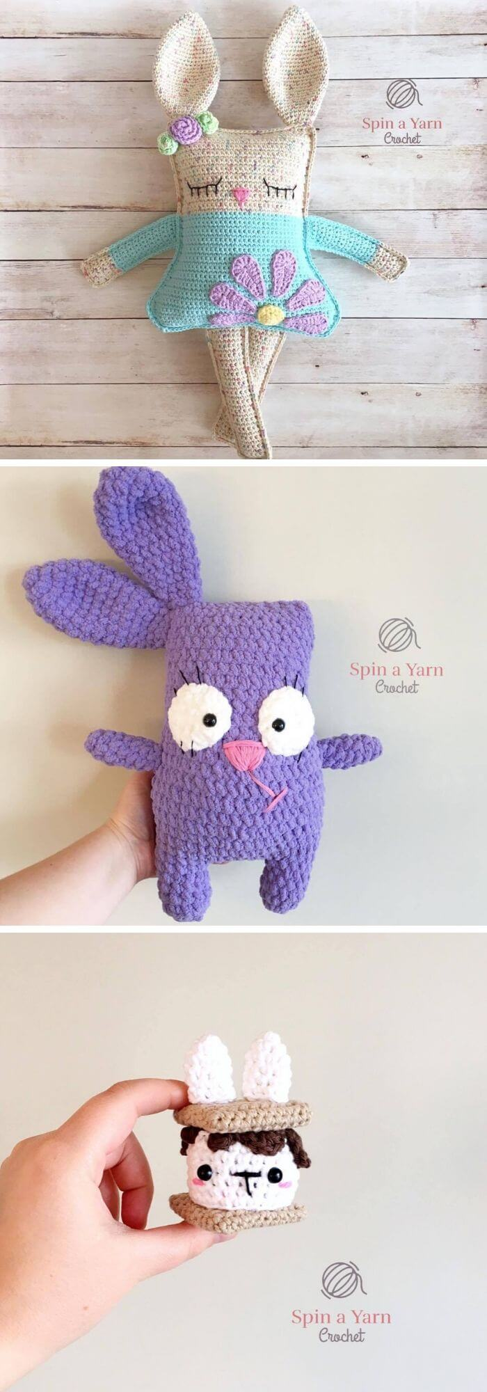 Spring bunny in dress amigurumi pattern | Amiguroom Toys | 2000x700