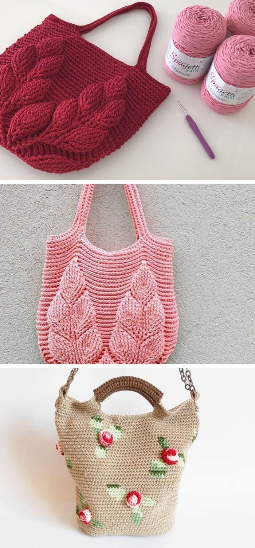 Crochet 3D bag