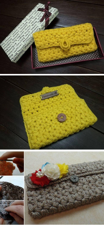 Puffed star stitch handbag