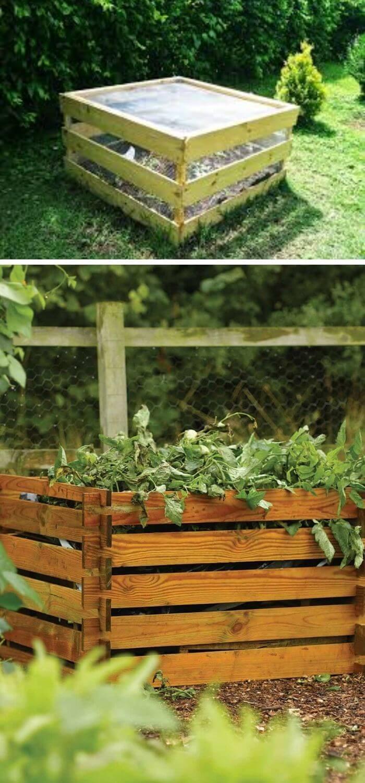 DIY square Compost Bin