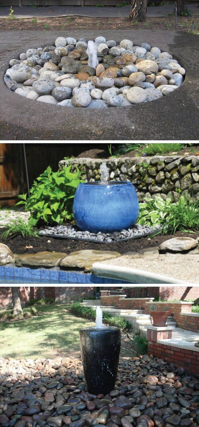 DIY Disappearing Water Fountain