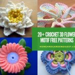 20+ Best Crochet 3D Flower Motif Free Patterns