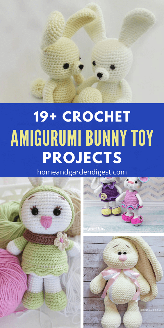 Crochet Amigurumi Bunny Toy Free Patterns Instructions | 1128x564