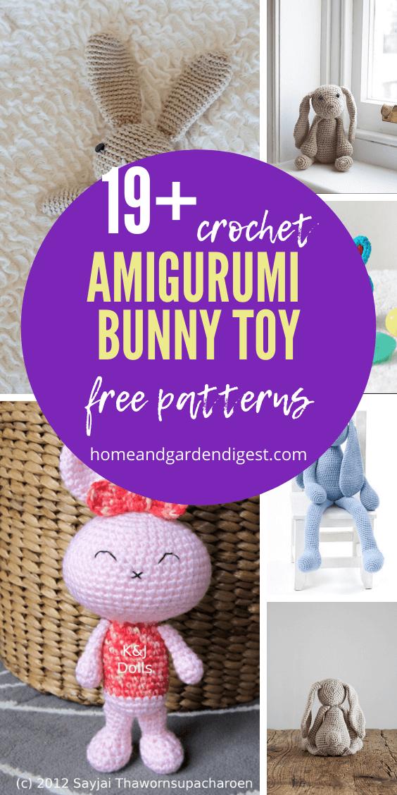 PATTERN: Crochet Bunny PDF file amigurumi bunny tutorial | Etsy | 1128x564