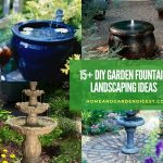 15+ DIY Garden Fountain Landscaping Ideas