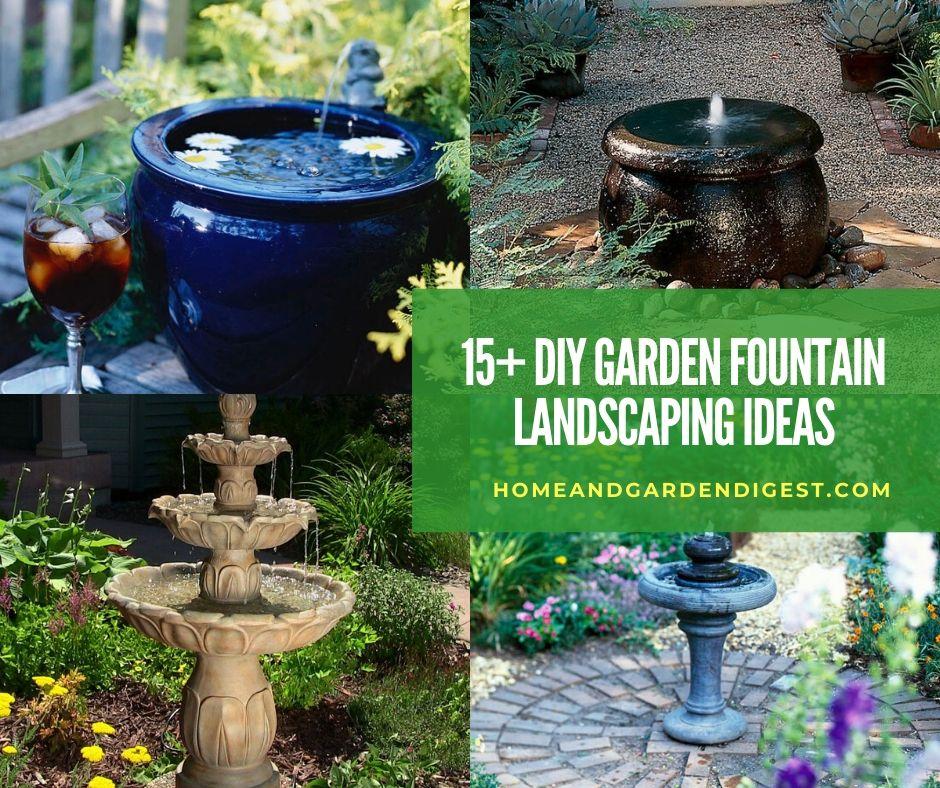 15 Stunning Diy Garden Fountain Landscaping Ideas And Designs 2020