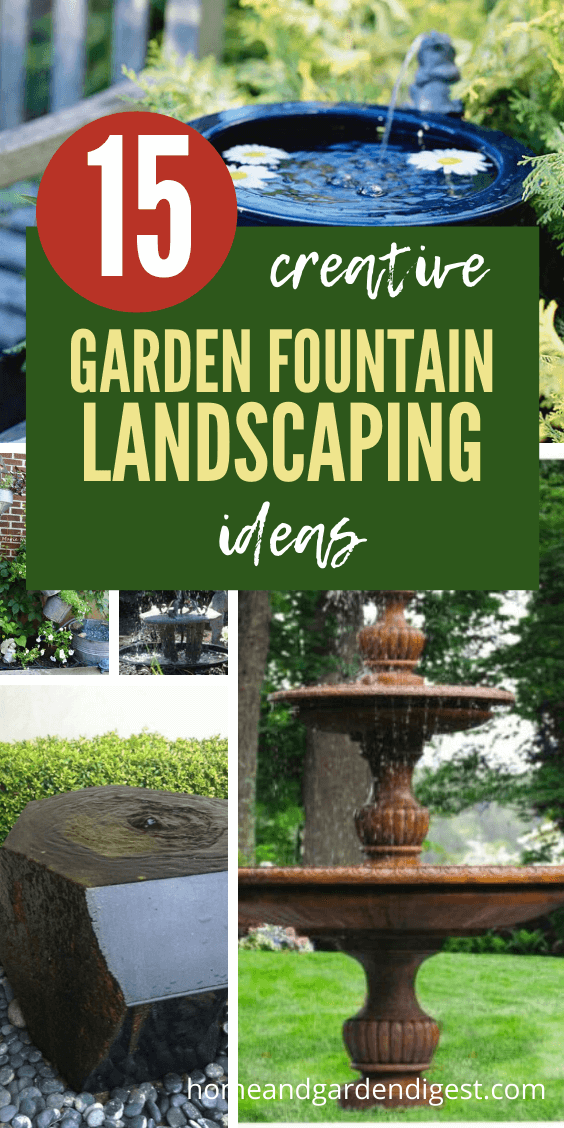 DIY Garden Fountain Landscaping Ideas