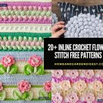 20+ Best Inline Crochet Flower Stitch Free Patterns