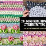 20+ Best Inline Crochet Flower Stitch Free Patterns