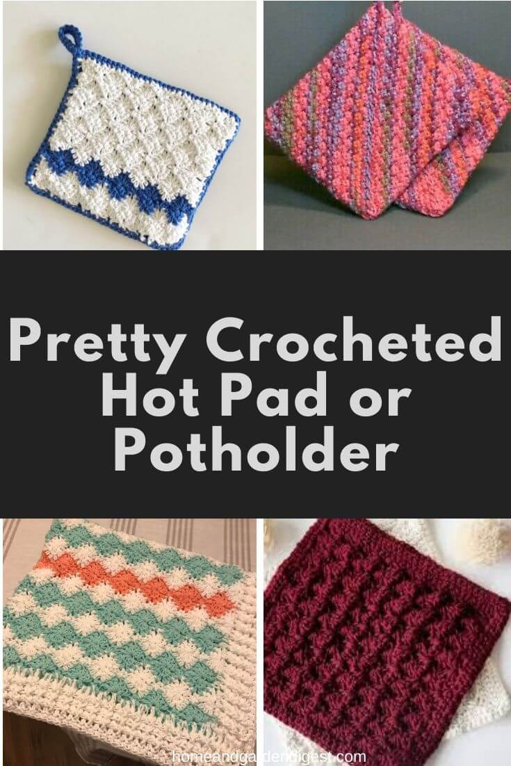 20 Crochet Pot Holder Hotpad Free Patterns For 2021