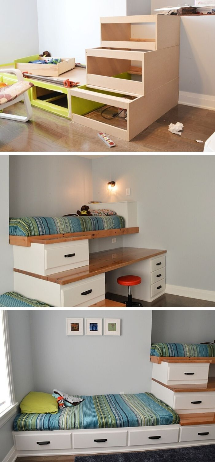 8+ Amazing DIY Space Saving Bed Frame Ideas & Plans For 821