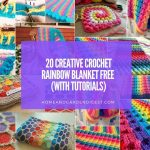 20 Creative Crochet Rainbow Blanket Free (With Tutorials)