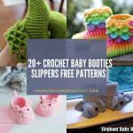 20+ Crochet Baby Booties Slippers Free Patterns
