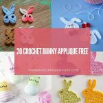 20 Crochet Bunny Applique Free Patterns