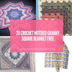 20 Crochet Mitered Granny Square Blanket Free Patterns