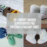 20 Crochet Sneaker Slipper Booties Free & Paid Baby Shoes