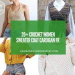 20+ Crochet Women Sweater Coat Cardigan Free