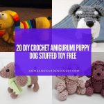 20 DIY Crochet Amigurumi Puppy Dog Stuffed Toy Free Patterns