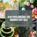 19 DIY Paper Christmas Tree Ornament Craft Ideas