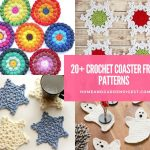 20+ Creative Crochet Coasters Free Patterns