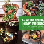 16+ Awesome DIY Broken Pot Fairy Garden Ideas