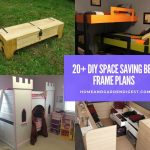 20+ DIY Space Saving Bed Frame Design Free Plans