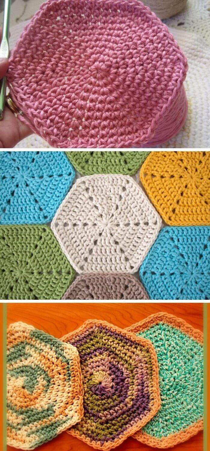 15+ Creative Crochet Hexagon Motif Free Patterns (With ...