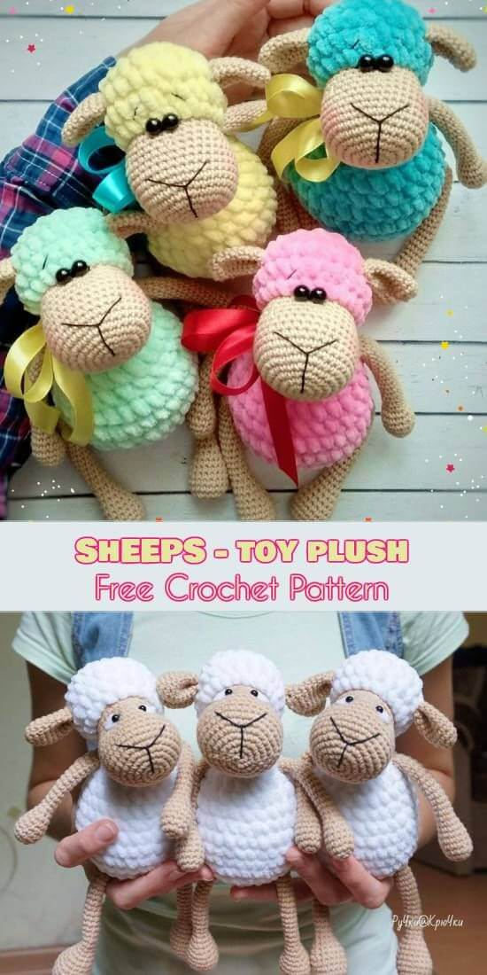 Sheep – Toys Plush- Amigurumi Free Crochet Patterns - Toys - Diy Toys | 1100x550