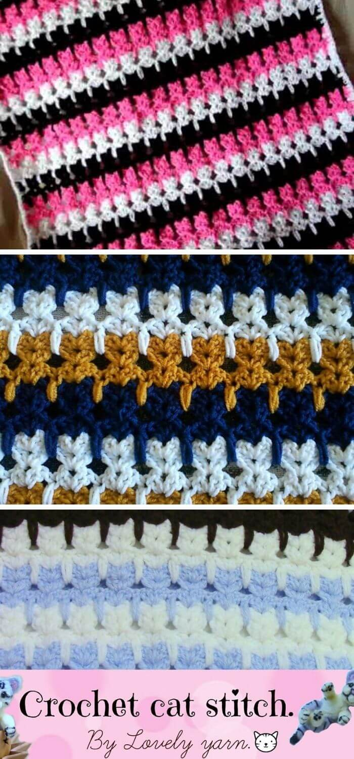 Abstract Cat Stitch (crochet) - The Blog of Teresa | 1500x700