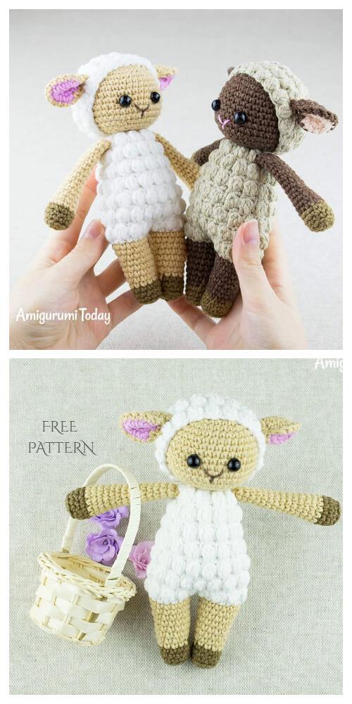 Sheep keychain – free crochet pattern - Amigurumi Today | 1000x500
