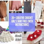 20+ Creative Crochet Girl's Skirt Free Patterns (With Instructions)