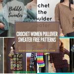 Crochet Women Pullover Sweater Free Patterns
