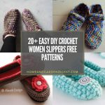 Easy DIY Crochet Women Slippers Free Patterns