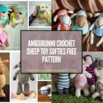 20 Amigurumi Crochet Sheep Toy Softies Free Pattern