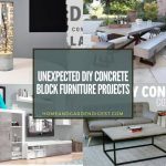 Unexpected DIY Concrete Block Furniture Projects