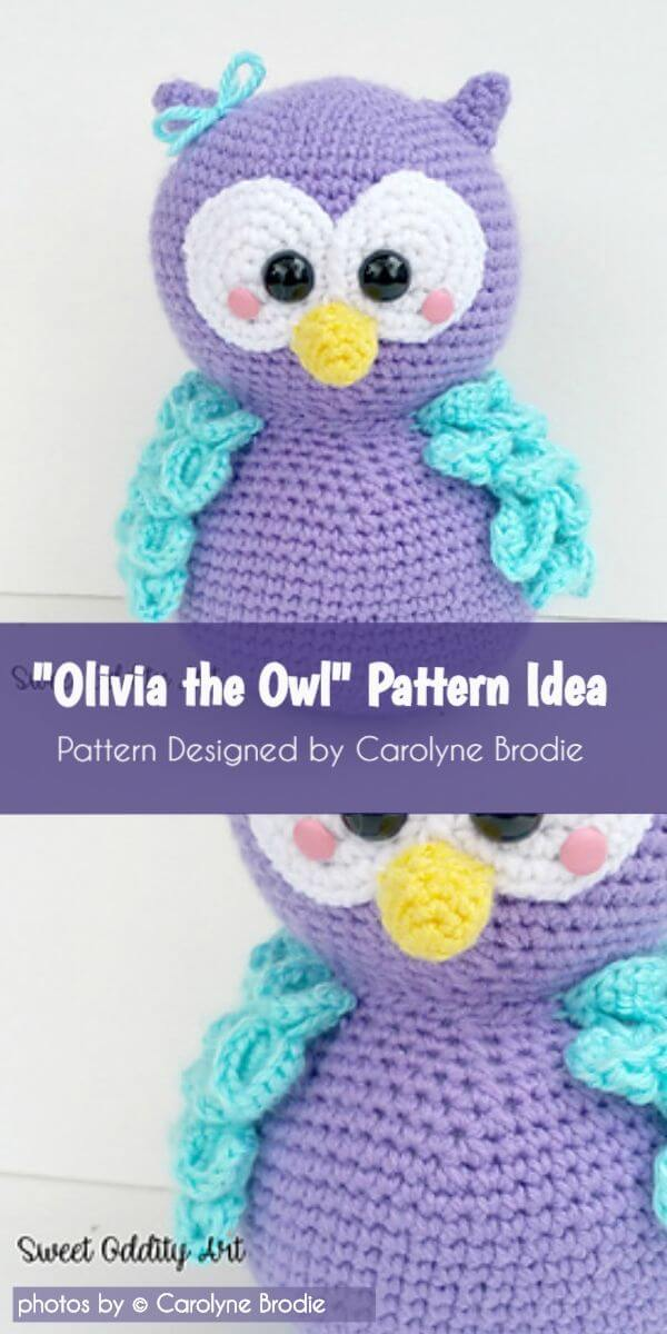 First time not using a pattern for amigurumi! Hedwig the snowy owl ... | 1200x600