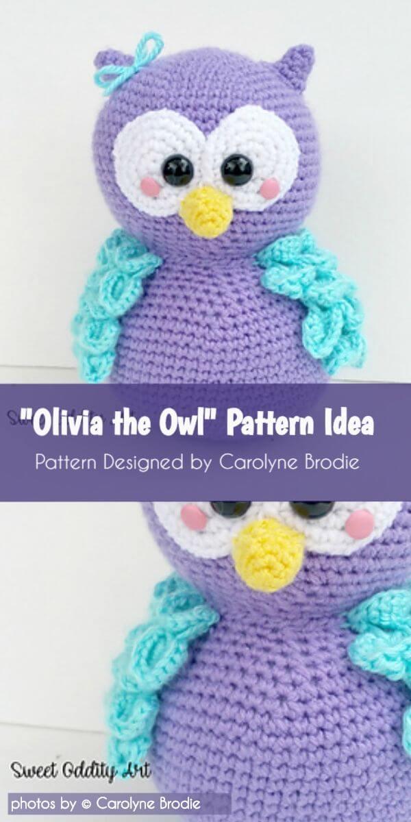 Jip the Owl - Free amigurumi pattern | 1200x600