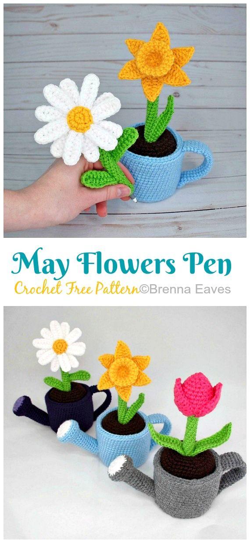 Amigurumi Sunflower Crochet Free Patterns • DIY How To | 1240x570