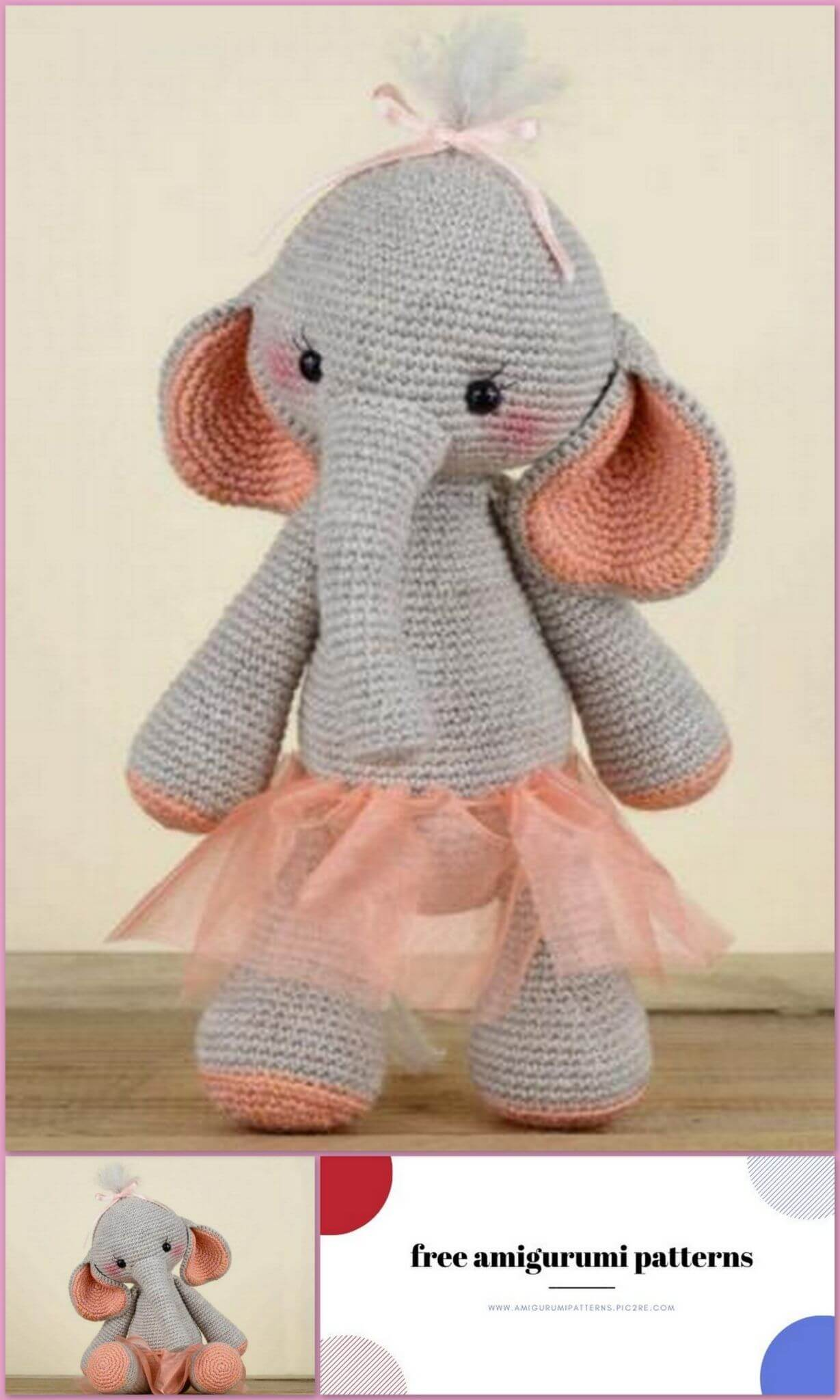 Elephant Amigurumi - Free Crochet Pattern • Craft Passion | 2048x1229