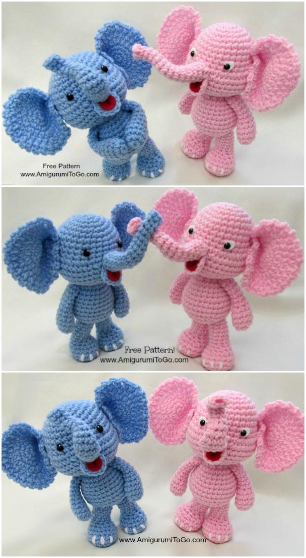 Amigurumi Crochet Elephant Pattern | Supergurumi | 1099x604